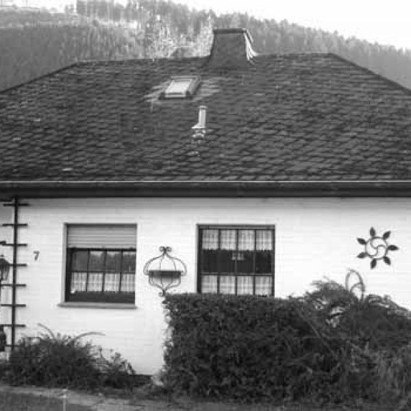 Wohnhaus von Prof. Carl Schmitt in Plettenberg-Pasel. Hier lebte CS von 1972 bis zu seinem Tode 1985